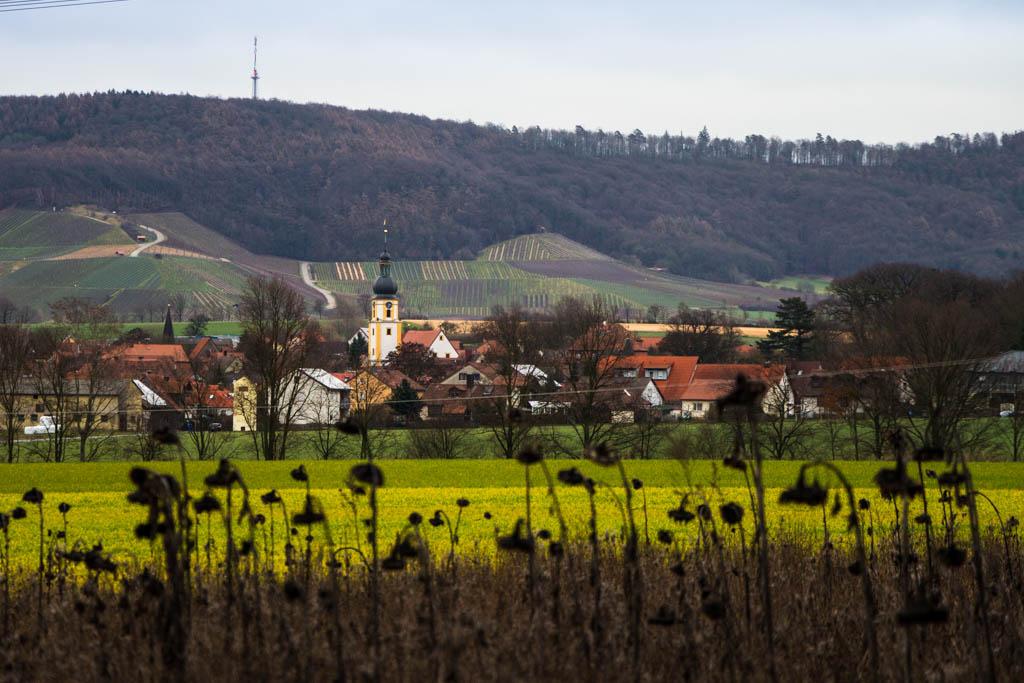 Winterwanderung - Blick auf Rüdenhausen und Friedrichsberg