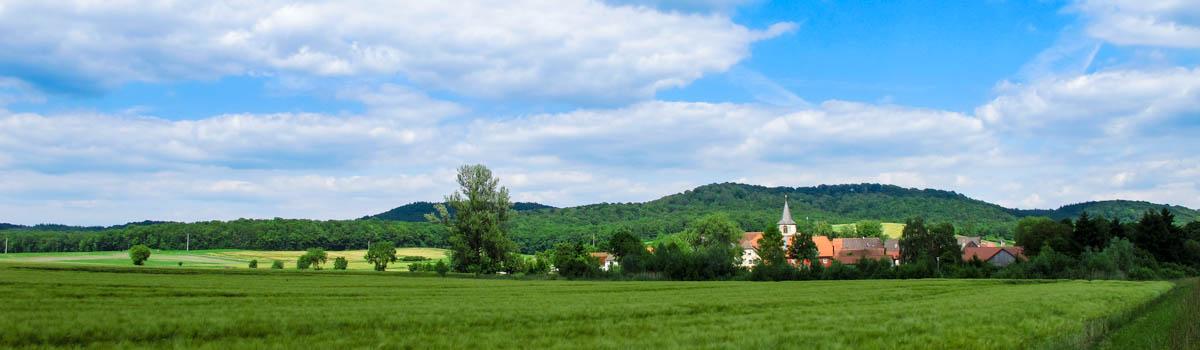Wiesenbronn-Birklingen Blick auf Birklingen