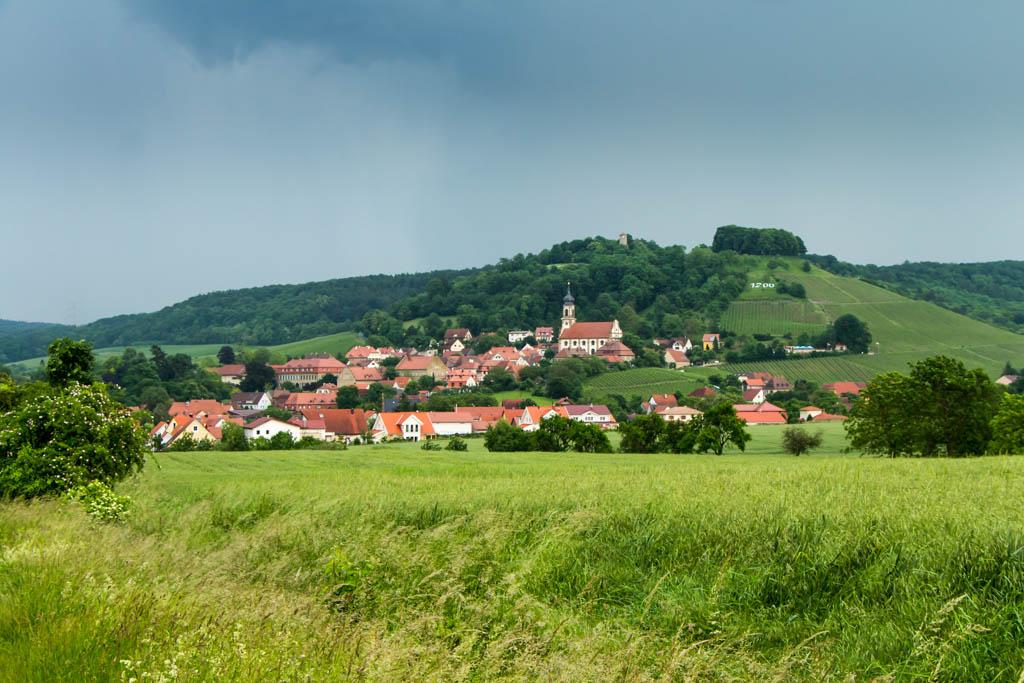 Gewitter über dem Schlossberg