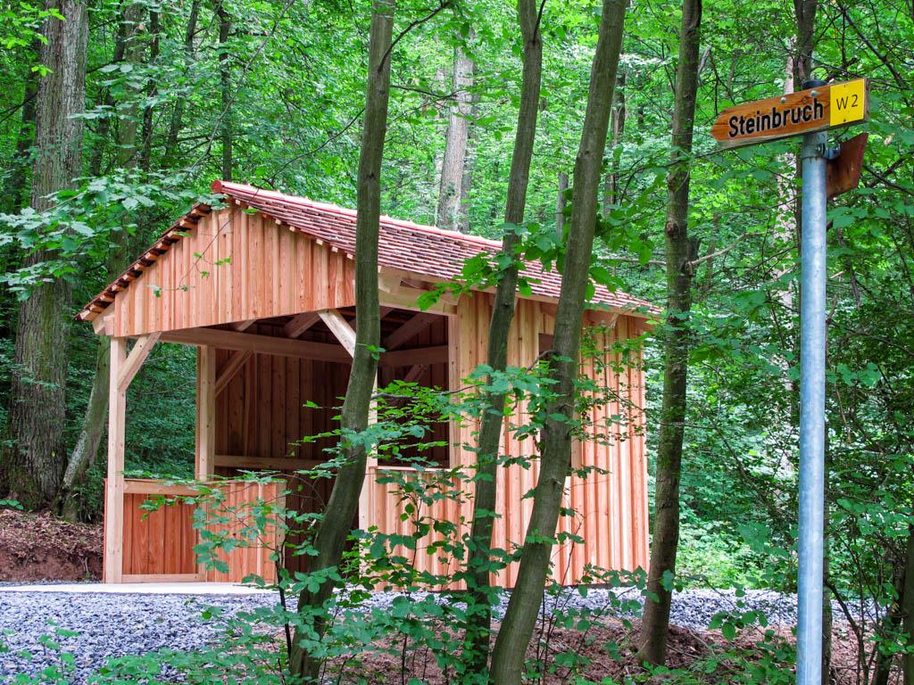 Steinbruchweg - Hütte am Steinbruch