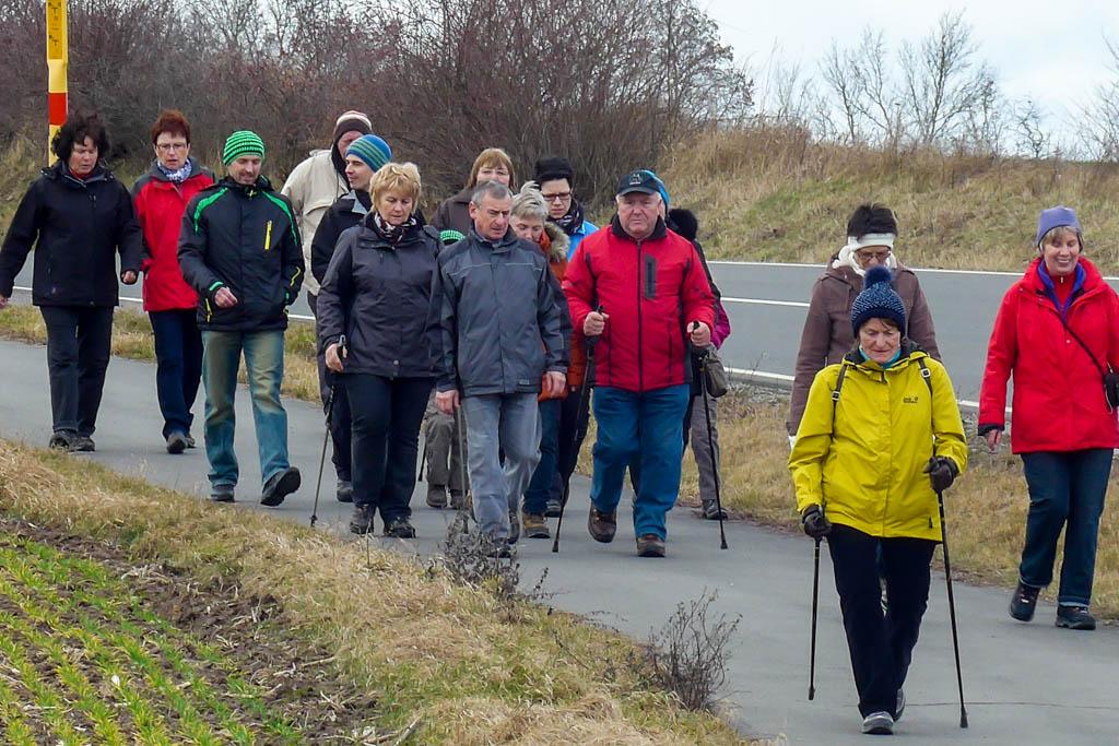 Wandergruppe nach Rüdenhausen