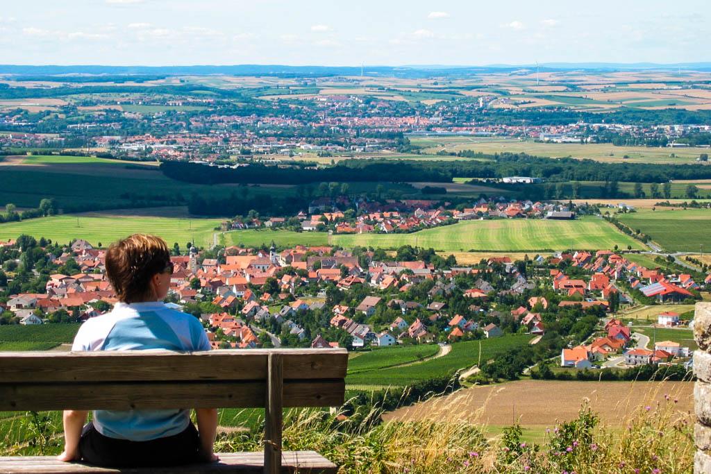 Alter Schwanbergweg - Blick vom Kappelrangen