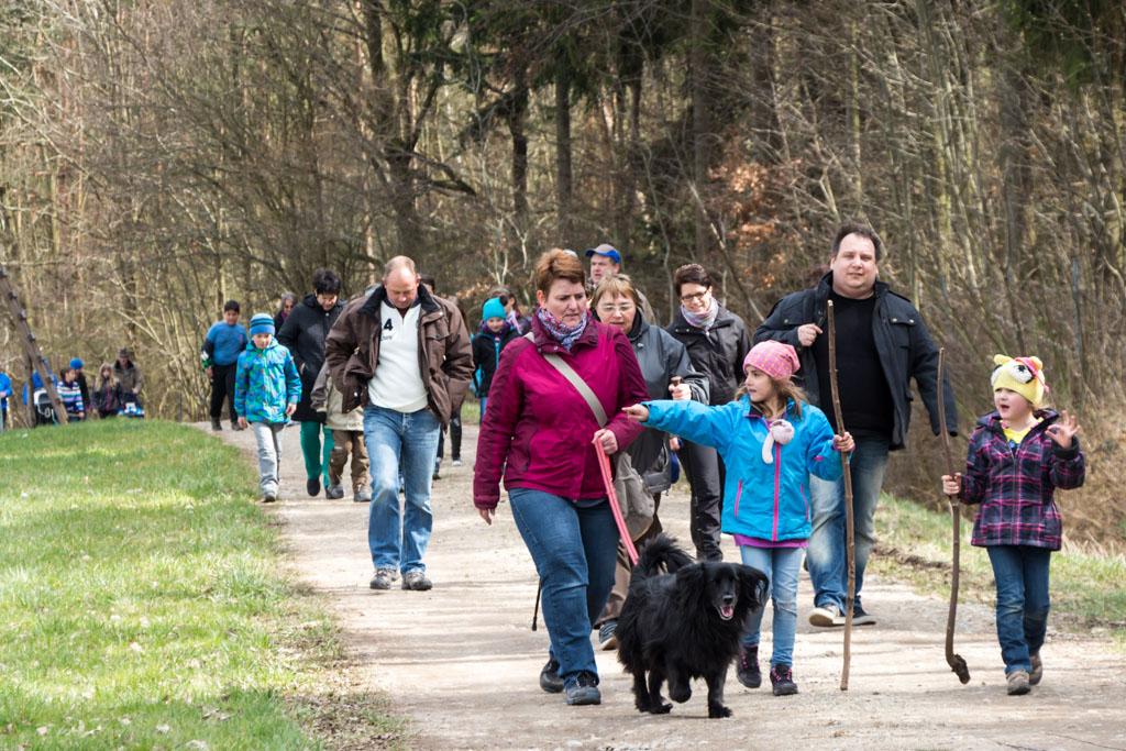Osterwanderung - kurz vor der Fritz-Paul-Hütte