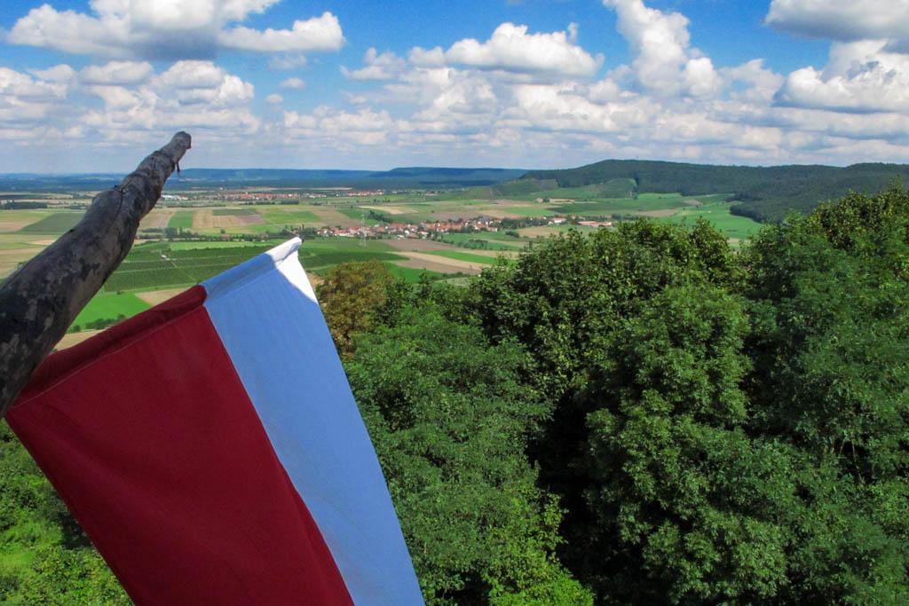 Castell vom alten Turm zum Steigerwald