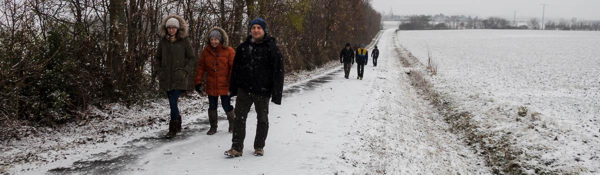 Wandergruppe auf dem Schleifweg